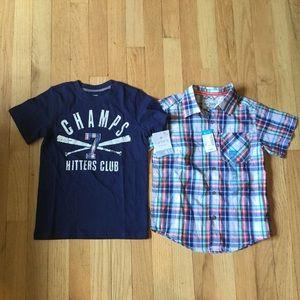NWT Lot 2 Carter's Children's Place Shirt Button